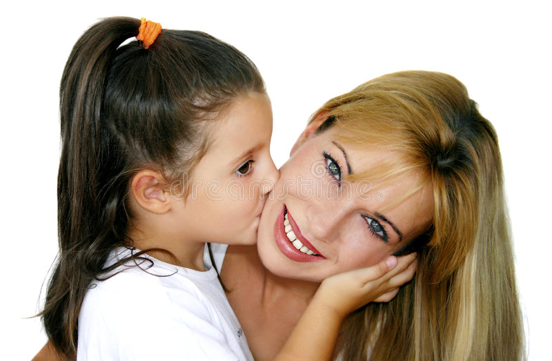 Meisje en mama royalty-vrije stock fotografie