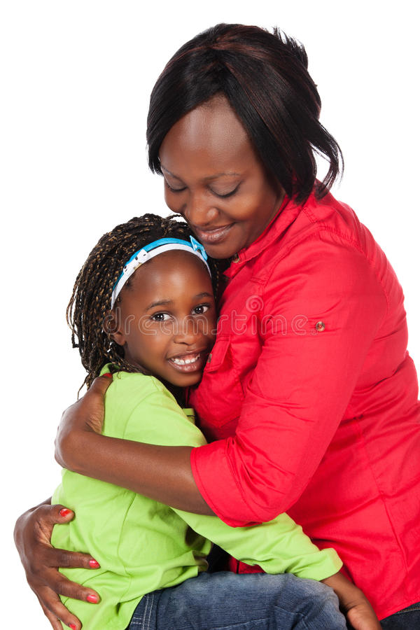 Meisje en moeder royalty-vrije stock foto