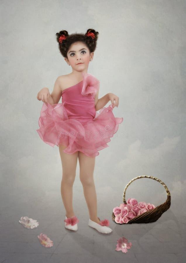 Meisje en rozen royalty-vrije stock foto's
