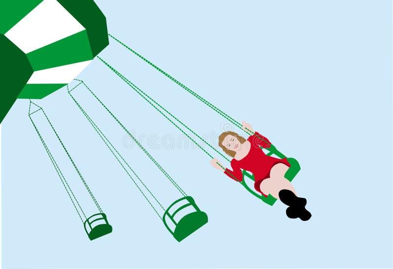 Download Meisje en schommeling vector illustratie. Illustratie bestaande uit kinderjaren - 10780467