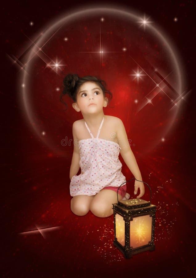 Meisje en sterren royalty-vrije stock fotografie