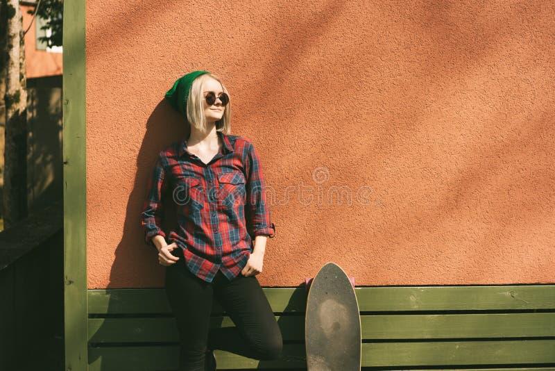 Meisje en vleet stock foto