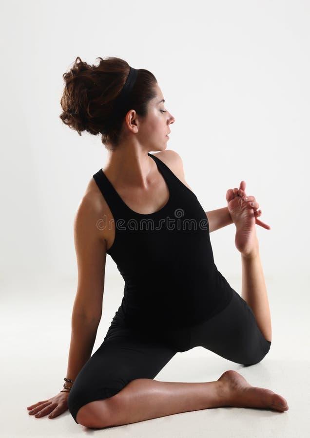 Meisje en yoga stock afbeeldingen
