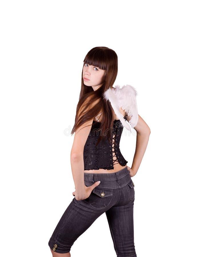 Meisje-engel royalty-vrije stock foto