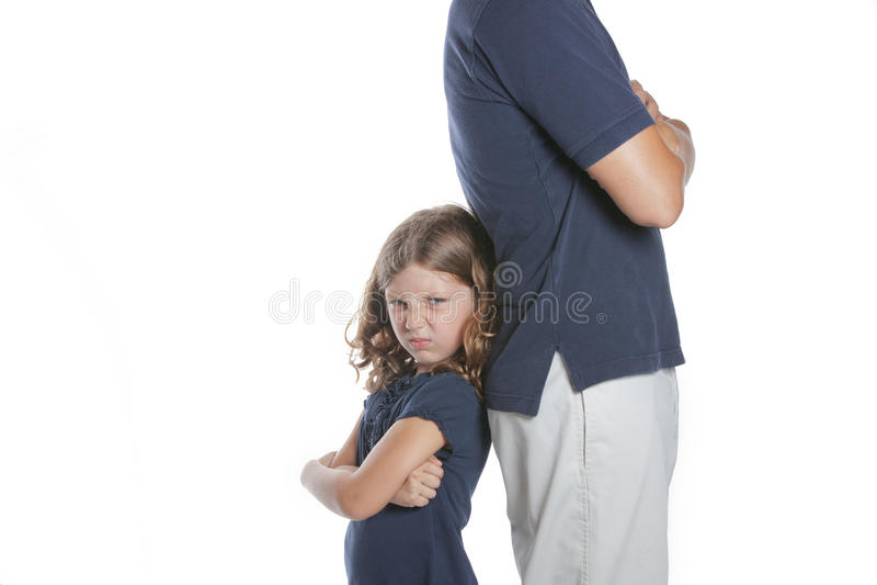 Meisje Gek bij Vader stock fotografie