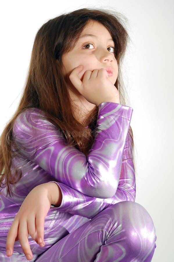 Meisje geklede disco royalty-vrije stock afbeelding