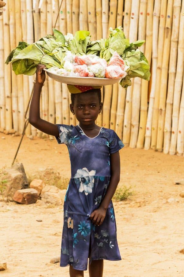 Meisje in Ghana royalty-vrije stock foto's