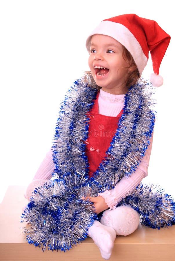 Meisje in GLB van een Nieuwjaar. royalty-vrije stock fotografie