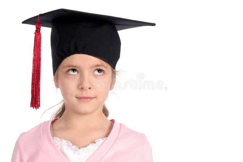 Meisje in graduatie GLB stock foto's