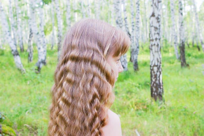 Meisje in het bos royalty-vrije stock foto's
