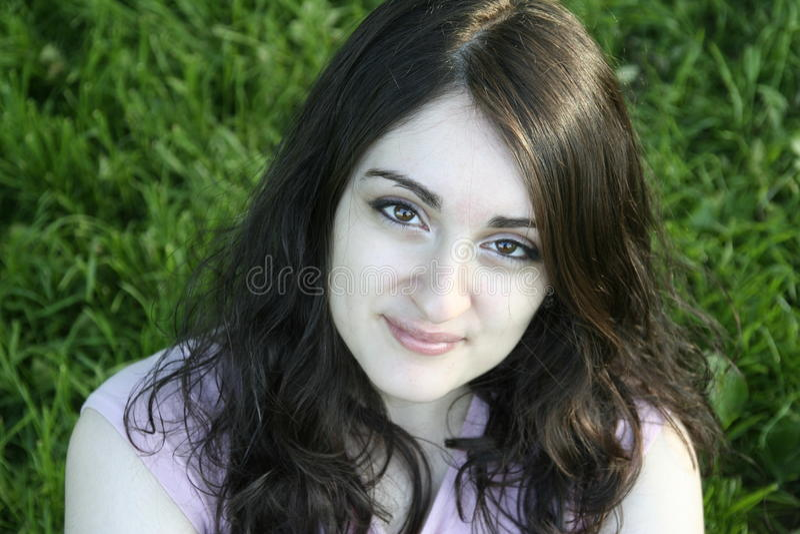Meisje het glimlachen royalty-vrije stock afbeeldingen