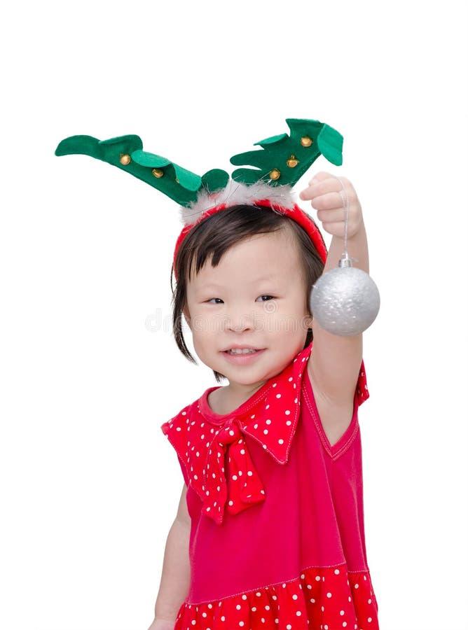 Meisje in het kostuum van de Kerstman royalty-vrije stock foto's