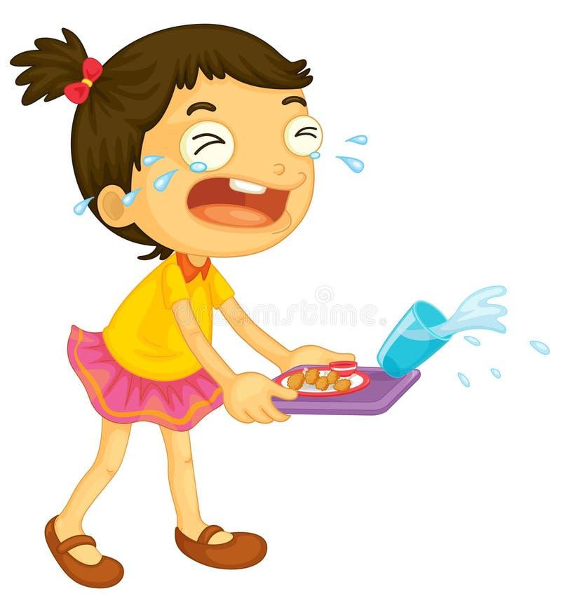 Meisje het schreeuwen stock illustratie