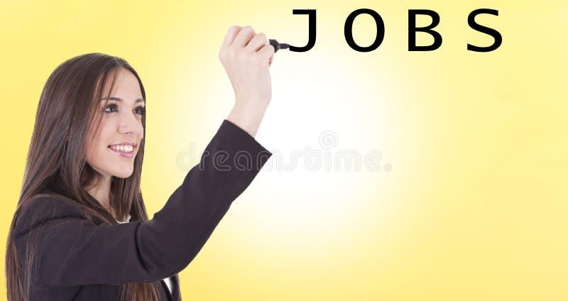 Download Meisje het typen banen stock foto. Afbeelding bestaande uit nota - 54088130