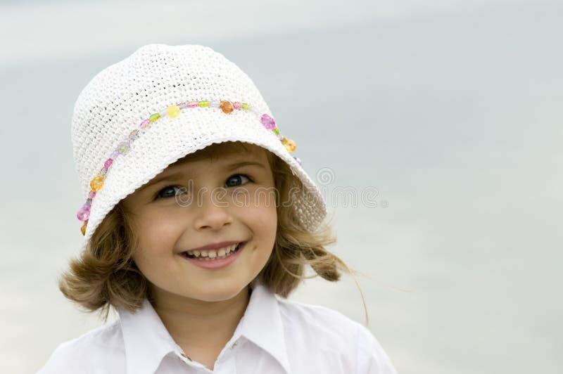 Meisje in hoed royalty-vrije stock foto's