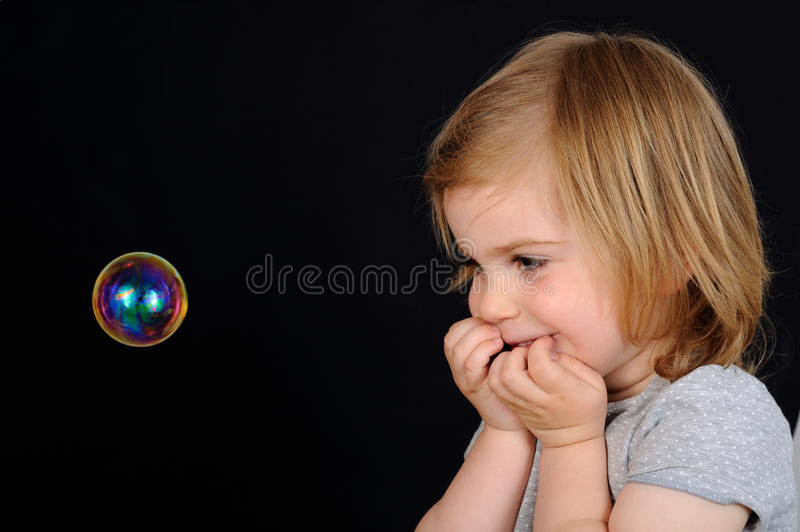 Meisje, jong geitje, betovering stock afbeelding