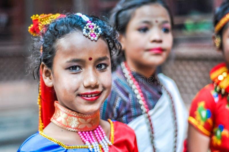 Meisje in Katmandu in Nepal royalty-vrije stock afbeeldingen