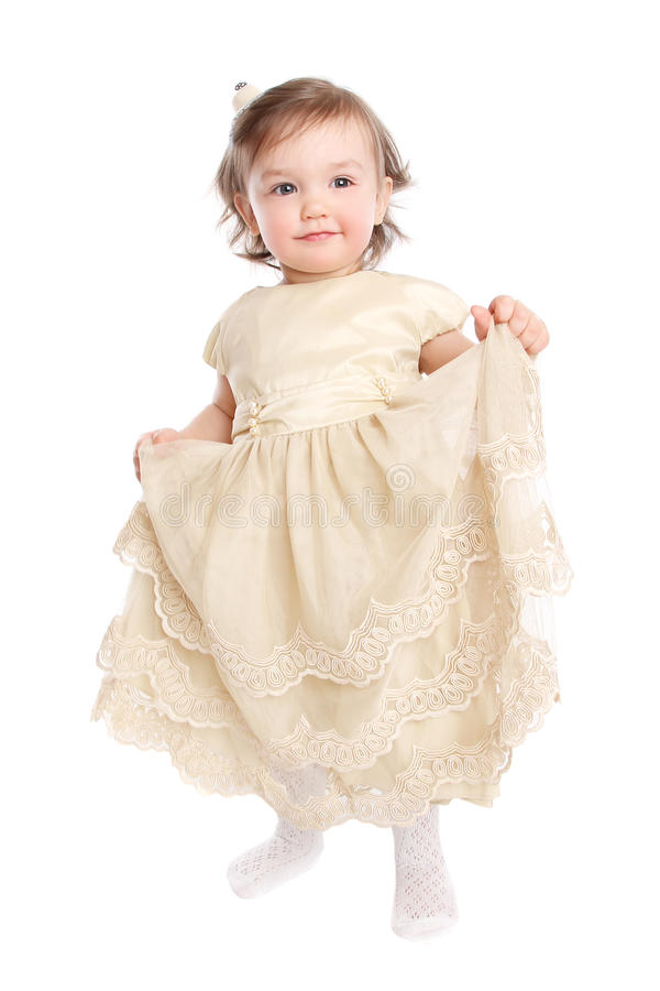 Meisje in kleding royalty-vrije stock foto's