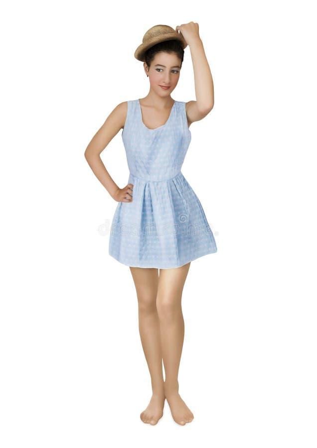 Meisje in korte kleding royalty-vrije stock fotografie