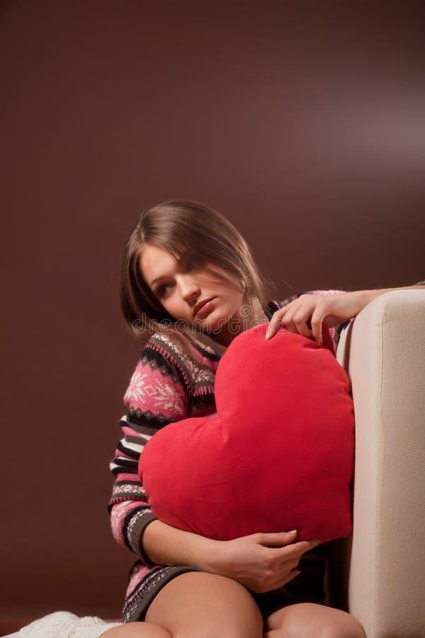 Meisje in liefde stock foto's