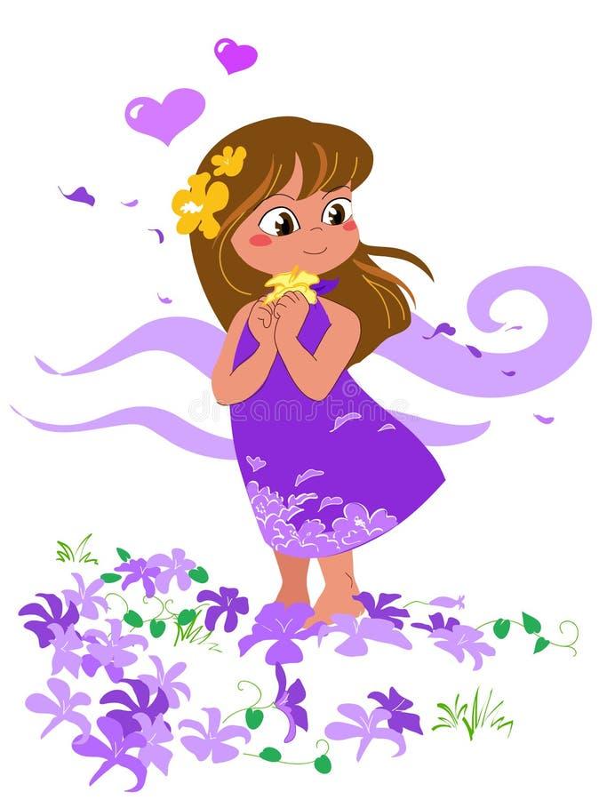 Meisje in liefde - vectorial illustratie. royalty-vrije illustratie