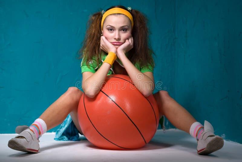Meisje met bal stock fotografie