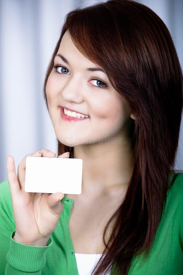 Meisje met bankkaart royalty-vrije stock foto's