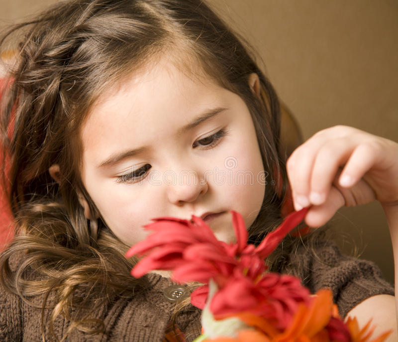 Download Meisje met bloemen stock afbeelding. Afbeelding bestaande uit kaukasisch - 10784505