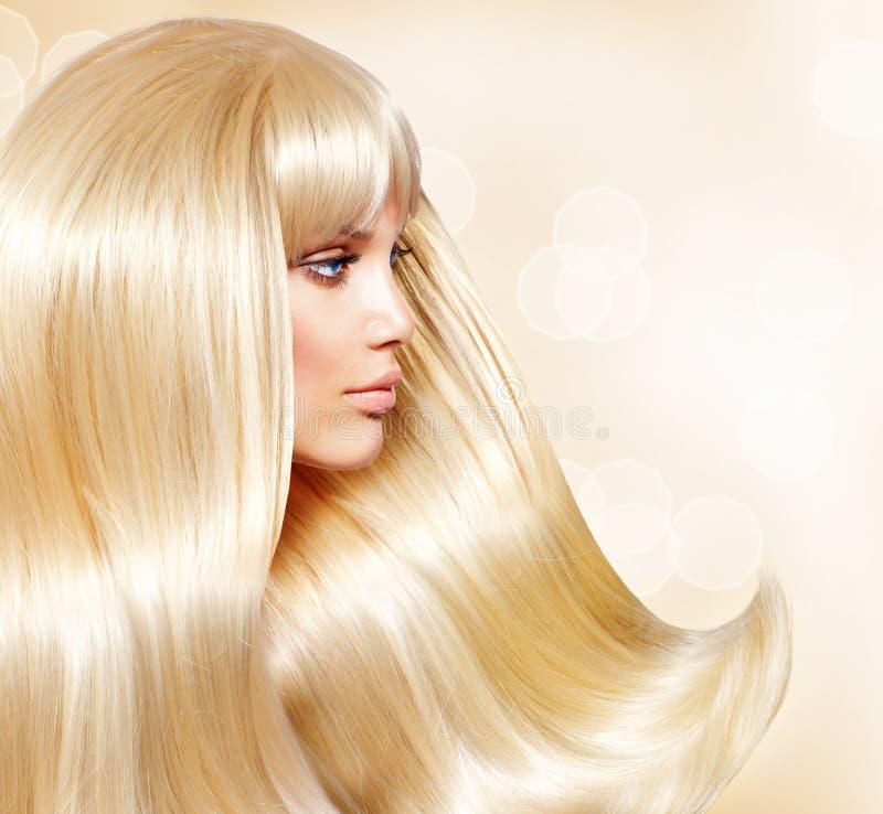 Meisje met Blond Haar stock afbeeldingen