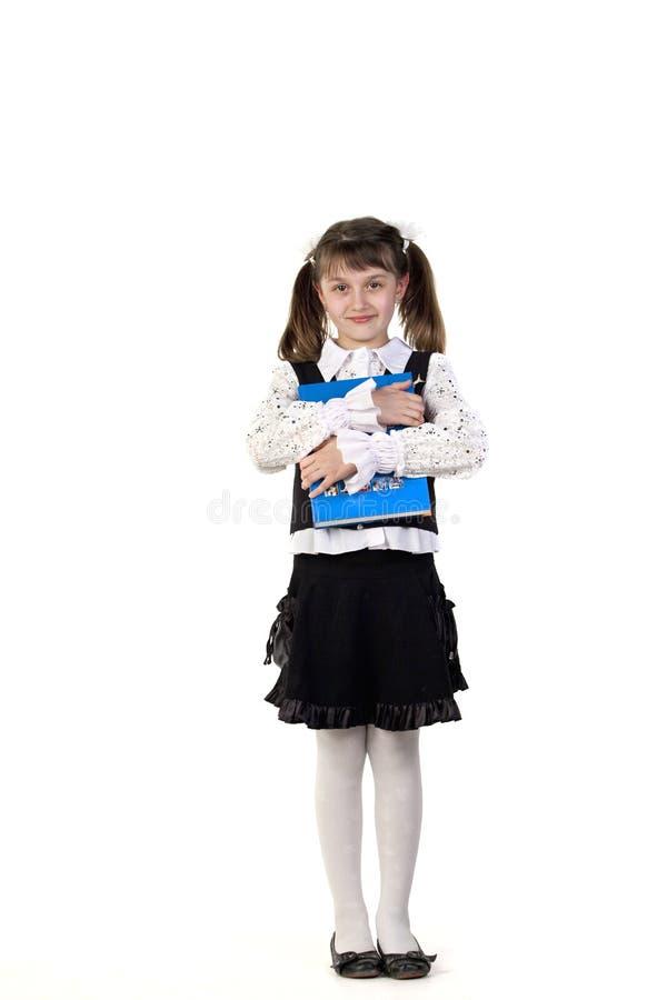 Meisje met boek in handen royalty-vrije stock afbeeldingen