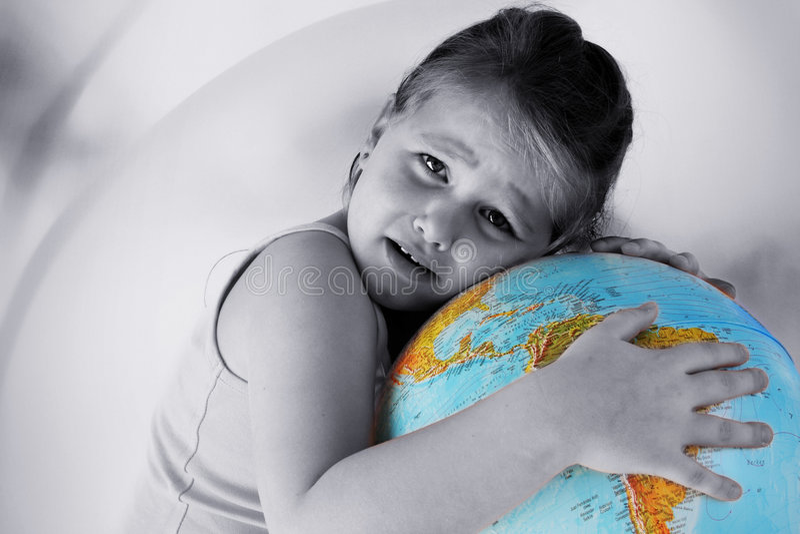 Meisje met bol royalty-vrije stock fotografie