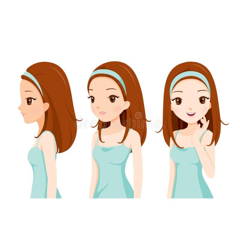 Meisje met de Stap van de Kleurenhuid vector illustratie