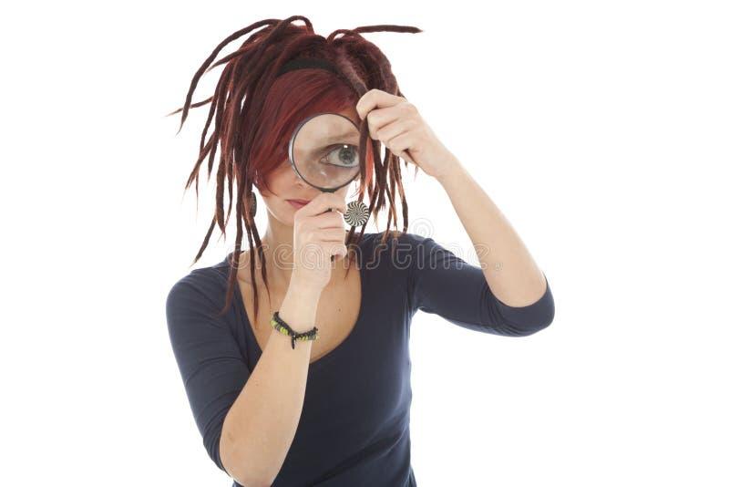 Meisje met dreadlocks royalty-vrije stock afbeelding