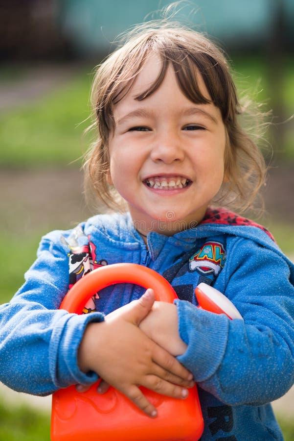 Meisje met een glimlach royalty-vrije stock afbeelding