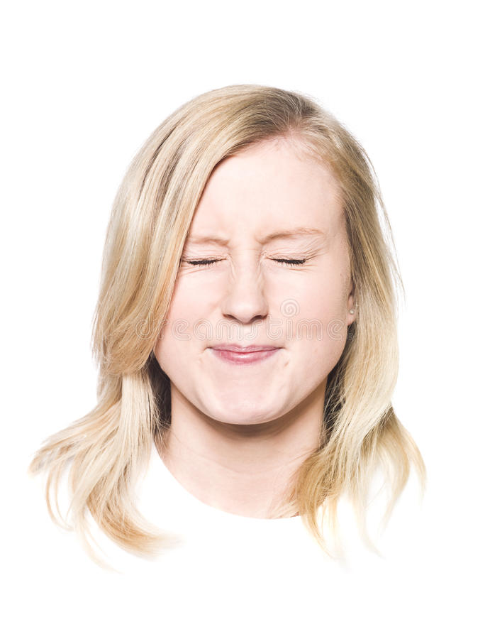 Meisje Met Een Toothy Glimlach Stock Afbeeldingen