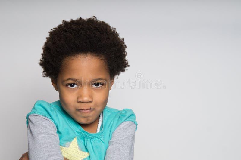 Download Meisje met frown stock afbeelding. Afbeelding bestaande uit ongelukkig - 39114845
