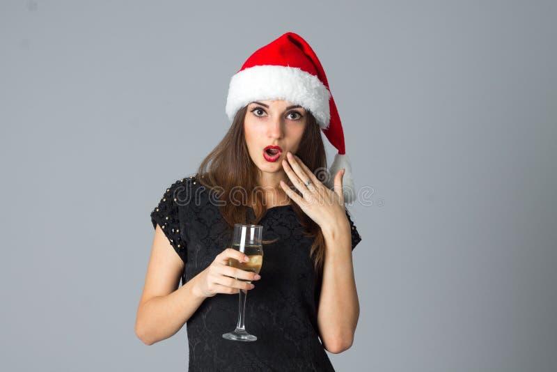 Meisje met glas champagne royalty-vrije stock foto
