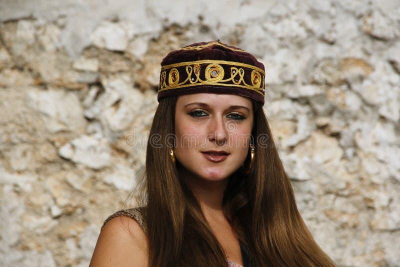 Meisje met hoed stock afbeeldingen