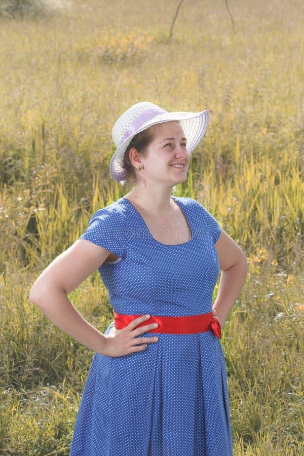Meisje met hoed royalty-vrije stock foto