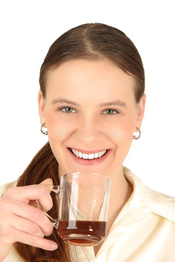 Meisje met koffie royalty-vrije stock foto