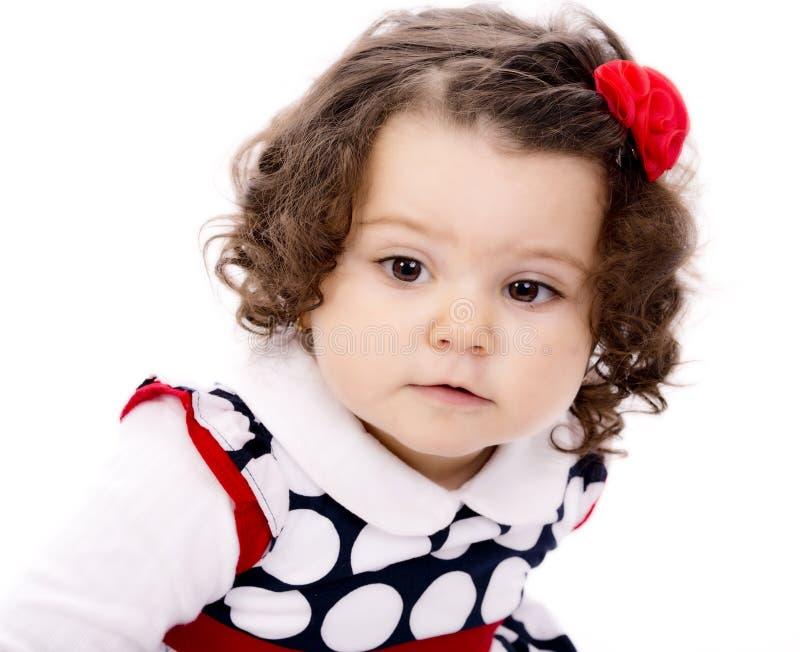 Meisje met krullend haar royalty-vrije stock foto