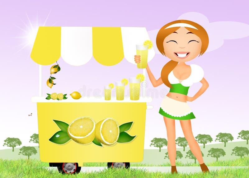 Meisje met limonade stock illustratie