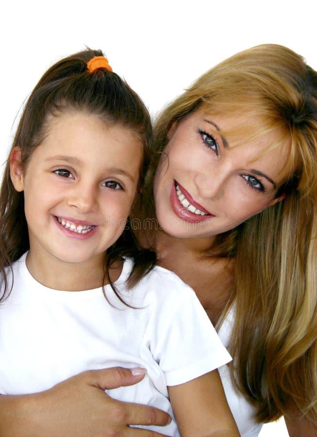 Meisje met mama royalty-vrije stock fotografie