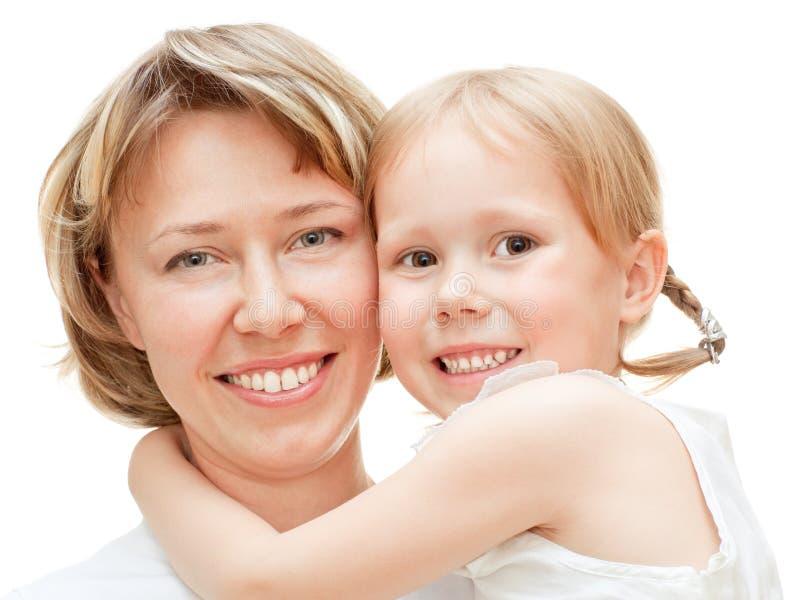 Meisje met mamma royalty-vrije stock fotografie