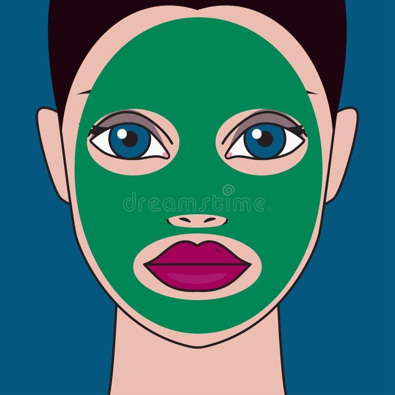 Meisje met masker vector illustratie
