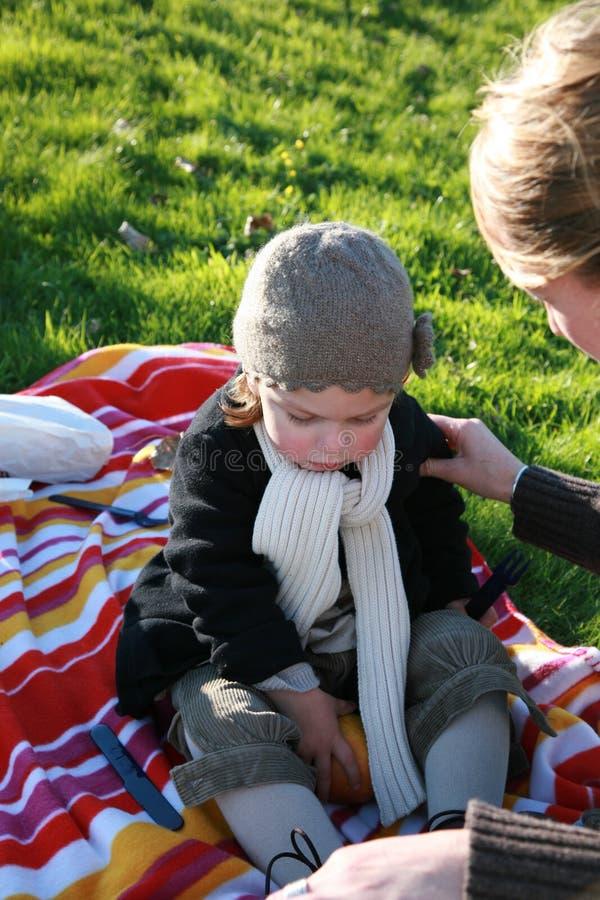 Meisje met moeder royalty-vrije stock foto