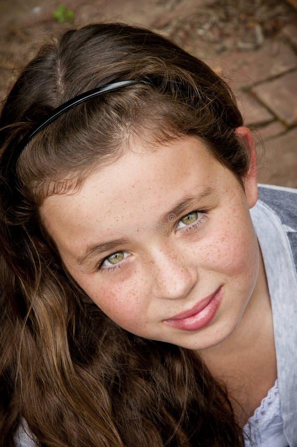 Meisje met mooie ogen royalty-vrije stock afbeelding