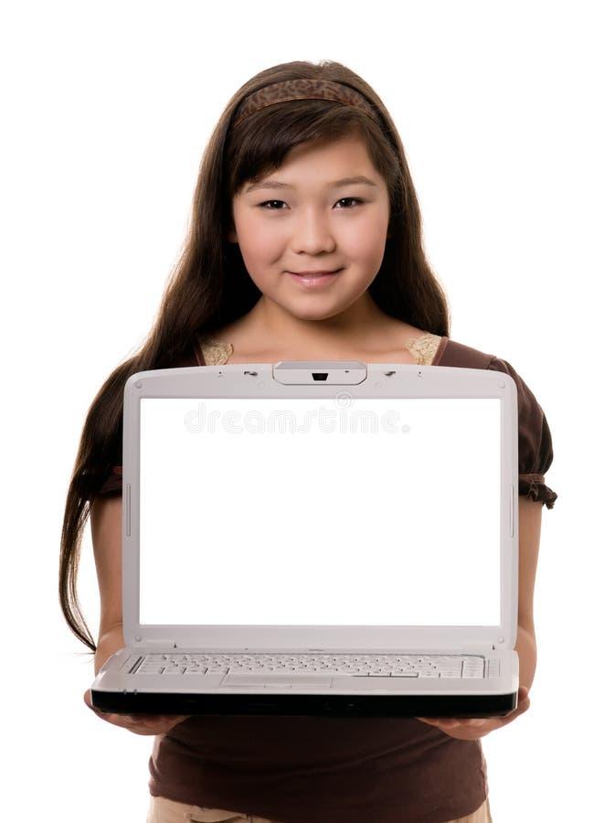 Meisje met notitieboekje stock afbeeldingen
