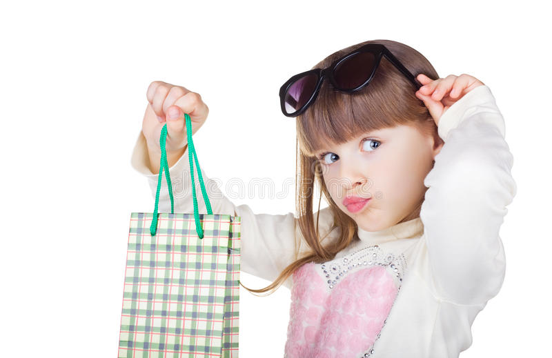 Meisje met pakket stock foto