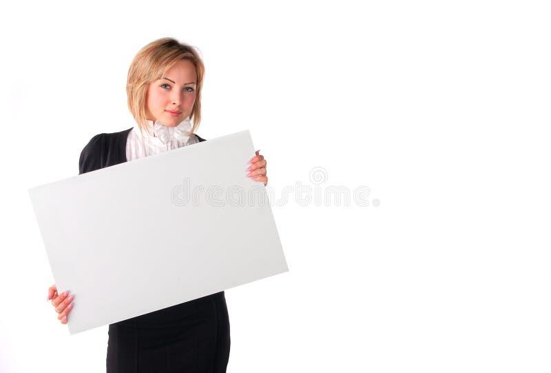 Meisje met raad royalty-vrije stock fotografie